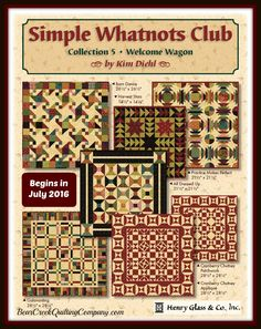Simple Whatnots Club - Collection 5 by Kim Diehl by Henry Glass & Co., Inc.