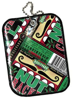 Luggage Tag from Repurposed Boulevard Brewing NutCracker Ale beer labels by squigglechick, $12.00