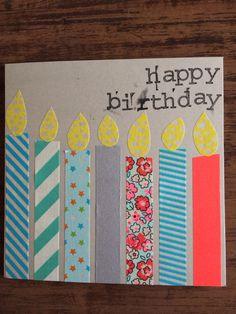 Verjaardagskaart met washi tape