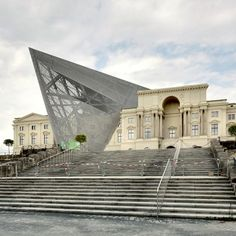 Daniel Libeskind has driven a pointed steel and glass shard through the heart of the war museum in Dresden.