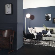 Deco Blue + Byge = Living Room Inspiration, Interior Inspiration, Deco Blue, Living Room Colors, Living Room Kitchen, Wall Colors, Colour Architecture, Bedroom Decor, New Homes
