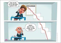 Dilma tem a Popularidade em queda...