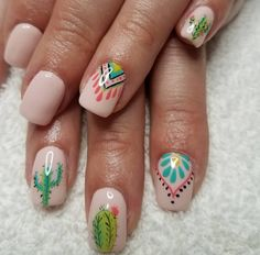 15 Desert-Inspired Nail Art Ideas for Coachella Weekend – Outfit Idea Cute Nails, Pretty Nails, My Nails, Hair And Nails, Heart Nails, Prom Nails, Spring Nails, Summer Nails, Western Nail Art