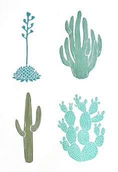 Cactus' are a popular item used in prints on clothing and homeware currently.