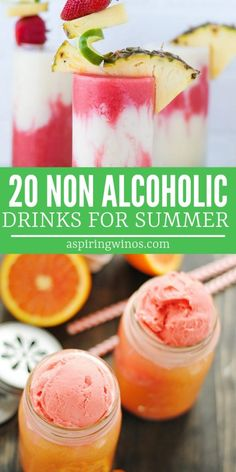 """A gorgeous selection of non-alcoholic drinks for summer parties, baby showers and drinks that kids will love. That """"make them feel like grown ups"""". Kid Drinks, Yummy Drinks, Healthy Drinks, Party Drinks, Healthy Food, Beverages, Healthy Recipes, Refreshing Summer Drinks, Summertime Drinks"""