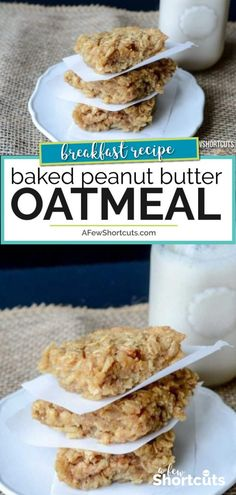 Looking for an easy breakfast, the whole family will love. You need to try this … Looking for an easy breakfast, the whole family will love. You need to try this yummy Baked Peanut Butter Oatmeal Recipe. Enjoy it as a snack or breakfast. Healthy Sweet Snacks, Healthy Breakfast Recipes, Healthy Meals, Healthy Cooking, Healthy Oatmeal Recipes, Healthy Vegetables, Easy Cooking, Gourmet Recipes, Cooking Recipes