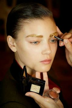 Gold brows... love it!