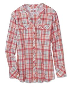Just found this Lightweight Button-Front Plaid Shirt - ExOfficio%26%23174%3b Airhart%26%23153%3b Long-Sleeved Shirt -- Orvis on Orvis.com!