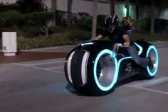 Light Cycle anyone?  The Light Cycle is built using fiberglass to create that sleek look and is powered by a fuel-injected Suzuki 996cc, four-stroke engine. Currently, you can purchase the model online for a retail price of $55,000.   via PSFK