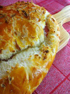 As receitas lá de casa: Pão recheado (receita Bimby / Thermomix)