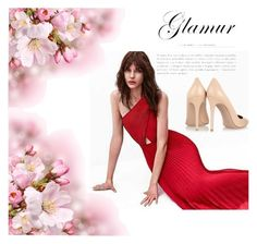"""""""red dress"""" by nurkovicselma on Polyvore featuring Gianvito Rossi"""