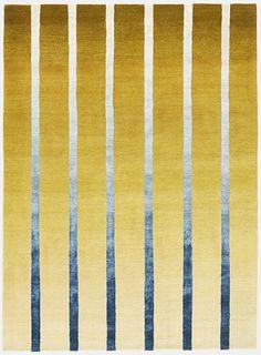 Deirdre Dyson DAWN hand knotted wool & silk rug.