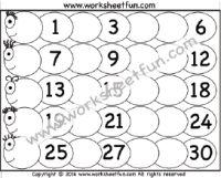 numbers 1-30 | kids | Pinterest | Worksheets, Free printable ...