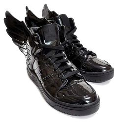 All Black Sneakers, High Top Sneakers, Wing Shoes, Jeremy Scott, Future Fashion, Gothic Lolita, Percy Jackson, Fasion, Adidas Originals