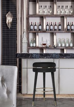 Dining Table Chairs, Bar Chairs, Dining Room, Contemporary Bar Stools, Contemporary Design, Modern Bar Stools, Modern Home Bar Designs, Grey Bar Stools, Luxury Bar