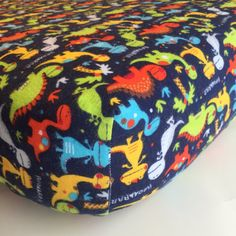 Warm, flannel fitted crib sheet perfect for the winter months. Dinosaur nursery. Dinos