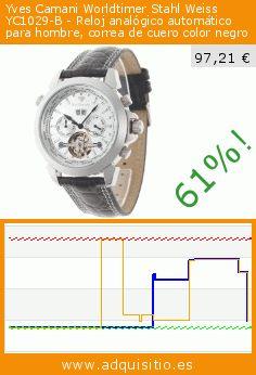 Yves Camani Worldtimer Stahl Weiss YC1029-B - Reloj analógico automático para hombre, correa de cuero color negro (Reloj). Baja 61%! Precio actual 97,21 €, el precio anterior fue de 251,62 €. https://www.adquisitio.es/yves-camani/worldtimer-stahl-weiss