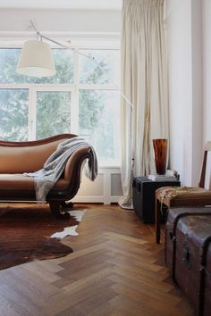 contemporary living room by Holly Marder    THE  FLOORS ARE TO DIE FOR!