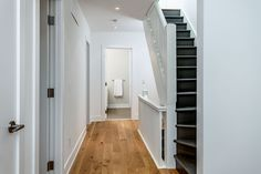 Second floor hallway transformed from previous broken up maze of walls and partitions Maze, Second Floor, Breakup, Interior Architecture, Stairs, Walls, Flooring, Modern, House