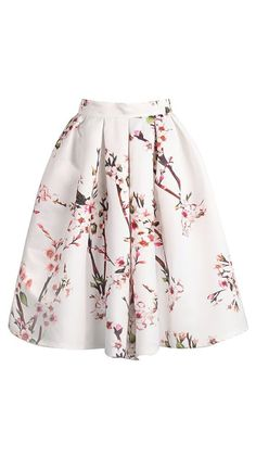 Blossom swing skirt // what do you pair with a midi skirt? pretty floral print.