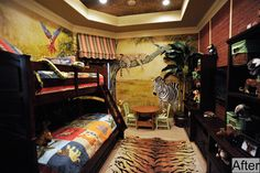 Smart space-saving ideas for creating a functional and cheerful 2016 small kid bedroom Jungle Bedroom, Boys Bedroom Decor, Bedroom Ideas, Teen Bedding, Home Trends, Room Themes, Design Firms, Boy Room, Kids Rooms