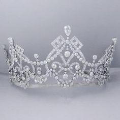 Edwardian diamond tiara, superb! No idea on country or hallmark Repin & Follow my pins for a FOLLOWBACK!