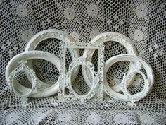 8 Ornate Picture Frames Antique White by BusyBeaversAttic on Etsy, $77.00