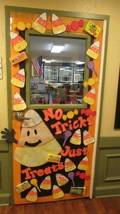 We've packed fresh, easy and innovative ideas for Halloween Classroom Door Decorations including witch legs and cauldron, mummy design, ghost party, zombie alert etc. for class Halloween party. Halloween Classroom Decorations, School Door Decorations, Halloween Class Party, Halloween Themes, Halloween Crafts, Classroom Ideas, Homemade Halloween, Halloween 2019, Funny Halloween