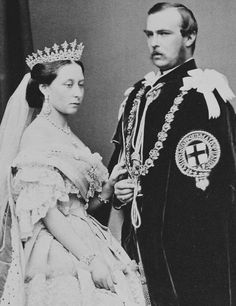 Princess Alice and Louis IV, Grand Duke of Hesse - March 1863. Taken on the Prince and Princess of Wales' Wedding.