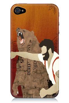iphone 5 case, Man Punching Bear