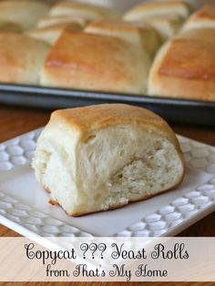 Copycat ??? Yeast Rolls - Easy to make yeast rolls! Come try one of our delicious yeast rolls recipes.