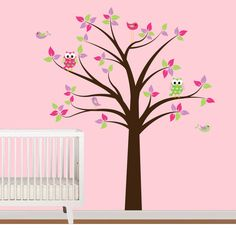 Vinyl Wall Decal Nursery Tree Decal with by NurseryWallArt on Etsy, $79.99