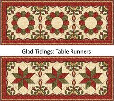 (7) Name: 'Quilting : 'Glad Tidings' Christmas Table Runner