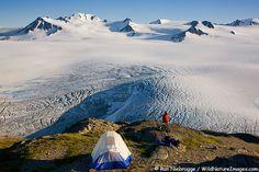 Camping along the Harding Icefield Trail - Kenai Fjords National Park - Alaska