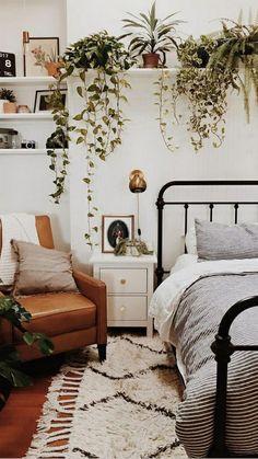 Room Ideas Bedroom, Dream Bedroom, Home Decor Bedroom, Modern Bedroom, Bedroom Designs, Contemporary Bedroom, Bedroom Inspo, Nature Bedroom, Earthy Bedroom