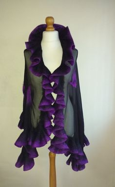 Check out this item in my Etsy shop https://www.etsy.com/uk/listing/490577064/black-nuno-felted-shawl-silk-evening