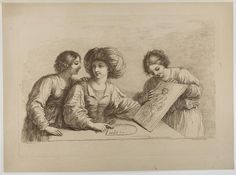 Woman Showing a Drawing to Two Other Women, Francesco Bartolozzi