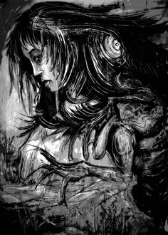 """Interior artwork by Luke Spooner for Clive Barker's """"Coming to Grief."""""""