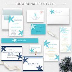 Starfish Beach Wedding Invitations - Wedding Branding