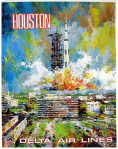 Delta to Houston ( If Apollo XIII, that was before the problem )