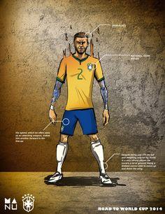 FIFA World Cup 2014 Amazing Football Player Illustrations #art #design #shhare fussbal