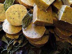 Crockpot milk and basil soap
