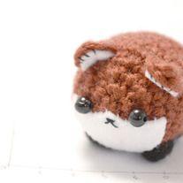 red fox amigurumi plush