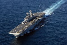 The amphibious assault ship USS Kearsarge is underway conducting crew certifications.