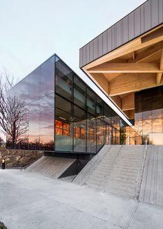 Stade de Soccer Montreal by Saucier + Perrotte architectes and HCMA in Quebec, Canada Cantilever Architecture, Stadium Architecture, Architecture Design, Public Architecture, Facade Design, Contemporary Architecture, Exterior Design, Interior And Exterior, Soccer Stadium