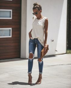 Charming 100 Summer Outfits and Trends Fashion Mode, Look Fashion, Womens Fashion, Fashion Trends, Fashion Fashion, Mode Outfits, Stylish Outfits, Fashion Outfits, Mode Chic