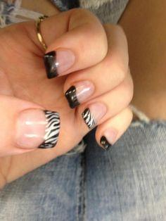 My #gel nails - zebra print