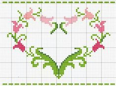 Cross Stitch Letters, Mini Cross Stitch, Cross Stitch Heart, Cross Stitch Borders, Cross Stitching, Embroidery Hearts, Cross Stitch Embroidery, Cross Patterns, Stitch Patterns