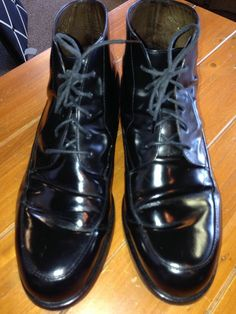 10.5 Cole Haan Black Dress Boots Lace Up Leather #ColeHaan #MensBoots #MensDressShoes