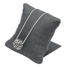 Gray Linen Pillow Display with Stand Bangle Bracelets, Bangles, Fabric Display, Rio Grande Jewelry, Bold Jewelry, Jewelry Displays, Linen Pillows, Jewelry Making Supplies, Jewelry Findings